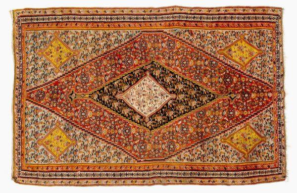Tappeto Persiano Kilim Senneh Antico. 190X130 visione dall'alto