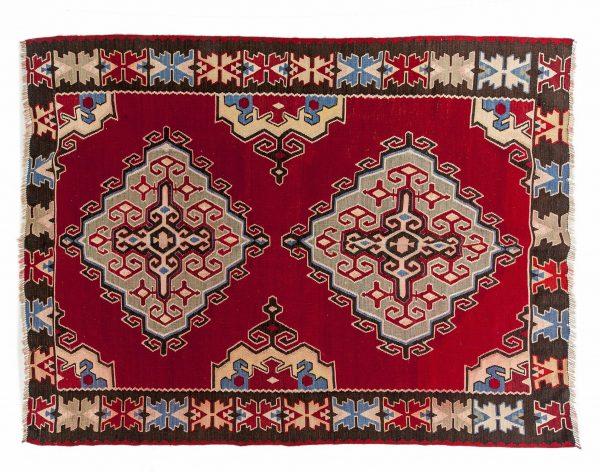 Tappeto Kilim persiano Kuba 200X150 visione dall'alto