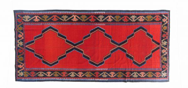 Tappeto Turco Kilim. 404X182 visione dall'alto