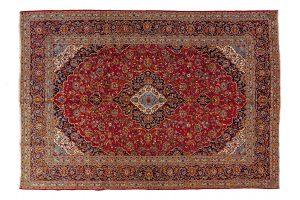 Tappeto Persiano Kashan. 406x296 visione dall'alto