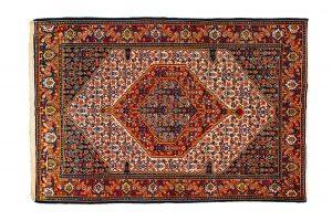 Tappeto Persiano Senneh. 200X137 visione dall'alto