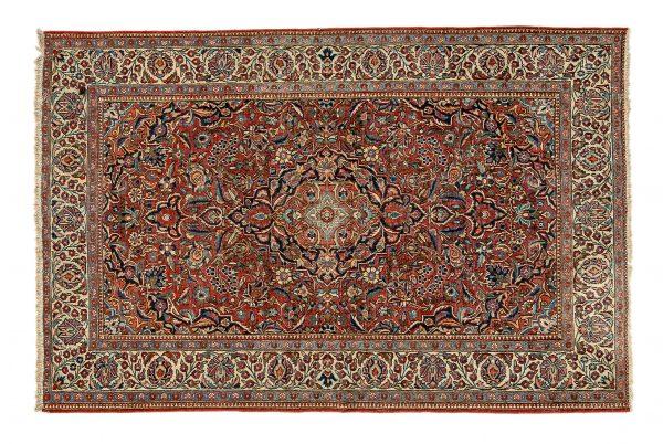 Tappeto Persiano Kashan. 202X132 visione dall'alto