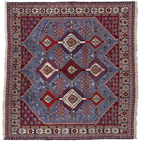 Tappeto Persiano Yalameh. 210X198 visione dall'alto