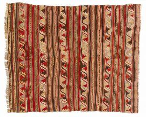 Tappeto Kilim Antico. 189X167 visione dall'alto
