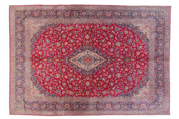 Tappeto Persiano Kashan Antico. 445X335 visione dall'alto