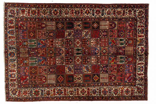 Tappeto Persiano Baktiari. 448x358 visione dall'alto