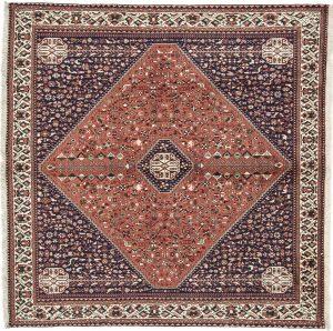 Tappeto Persiano Abadeh 199 x 197 visione dall'alto