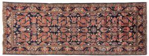 Tappeto Persiano Hamadan. 305x112 visione dall'alto