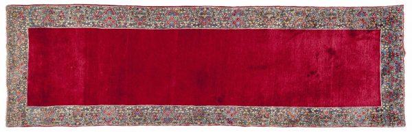 Tappeto Persiano Kerman. 286X89 visione dall'alto