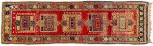 Tappeto Caucasico Karabag. 392x105 visione dall'alto