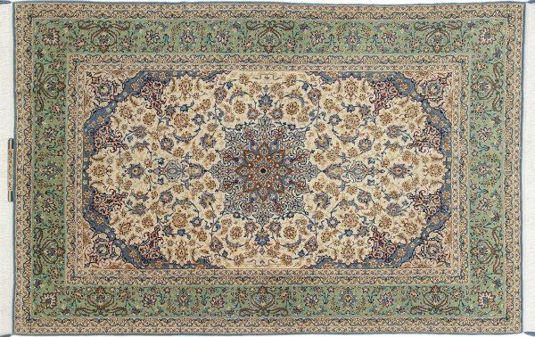 Tappeto Persiano Esfahan 226 x 152 visione dall'alto