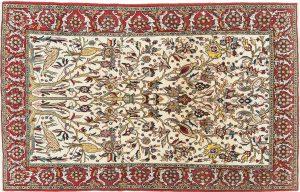Tappeto Persiano Kum 254 x 160 visione dall'alto