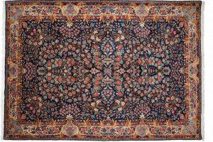 Tappeto Kerman 100 287 x 203 visione dall'alto