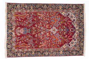 Tappeto Persiano Isfahan 148 x 104 visione dall'alto