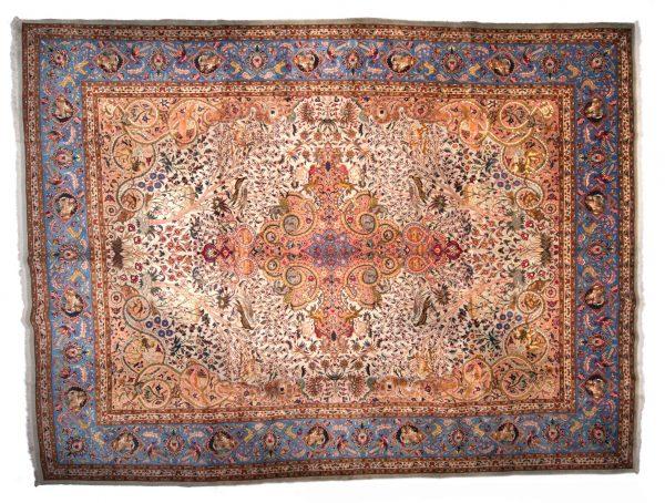 Tappeto Persiano Tabriz 400 x 302 visione dall'alto