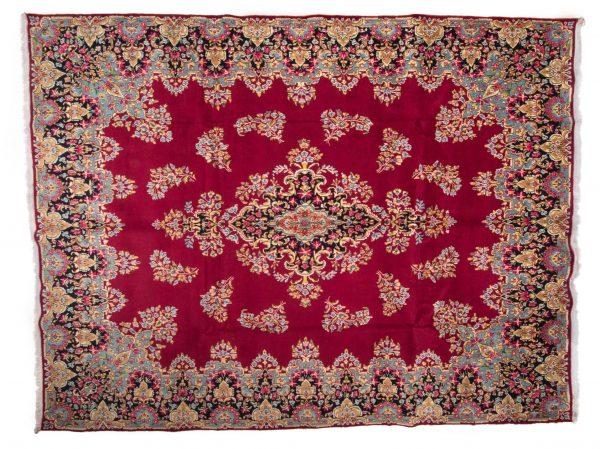 Tappeto Persiano Kerman 398 x 298 visione dall'alto