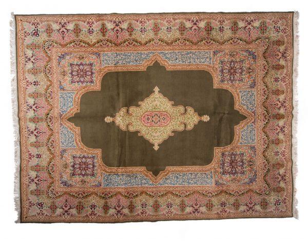 Tappeto Persiano Kerman 380 x 280 visione dall'alto