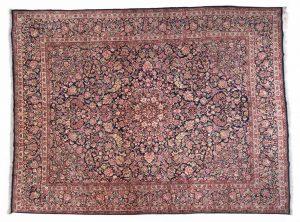 Tappeto Persiano Kerman 400 x 300 visione dall'alto