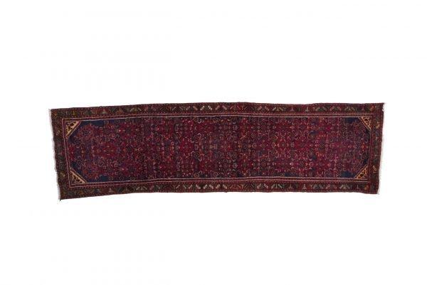Tappeto Persiano Hamadan 415 x 115 visione dall'alto