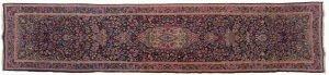 Tappeto Persiano Kerman 350 x 78 visione dall'alto