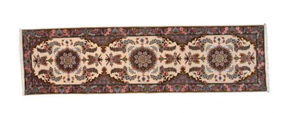 Tappeto Persiano Tabriz 60 Raj 314 x 87 visione dall'alto