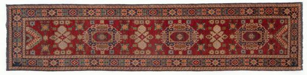 Tappeto Afgano Uzbek 369 x 87cm visione dall'alto