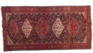 Tappeto Persiano Kashgay 413 x 200 visione dall'alto