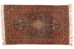 Tappeto Persiano Farahan Antico 211 x 133 visione dall'alto