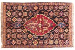 Tappeto Caucasico Karabag 180 x 119 visione dall'alto