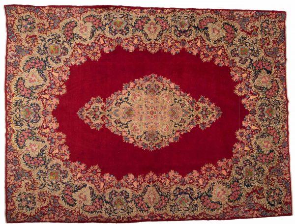 Tappeto Persiano Kerman 386 x 290 visione dall'alto