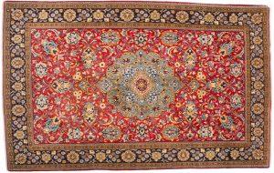Tappeto Persiano Kum 248 x 157 visione dall'alto