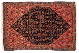 Tappeto Persiano Malayer 189 x 124 visione dall'alto