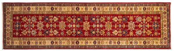 Tappeto Afgano Kazak Gold 287x79cm visione dall'alto