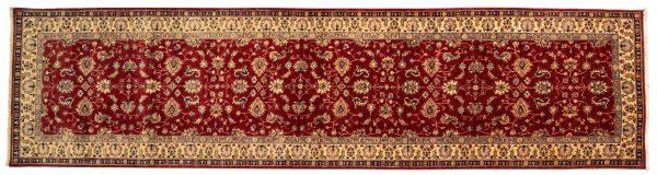 Tappeto Passatoia Afgano Chobi Extra 391x100cm visione dall'alto