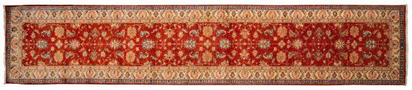 Tappeto Passatoia Afgano Chobi Extra 478x95cm visione dall'alto
