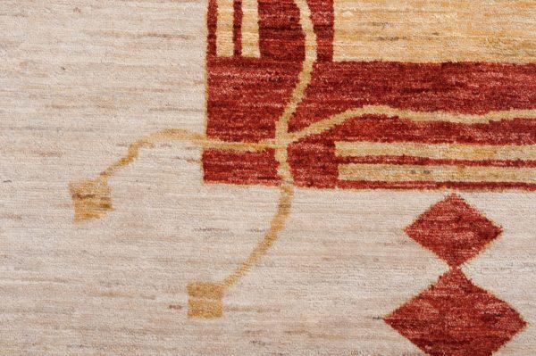 Tappeto Afgano Gabbeh 255x197 cm Dettaglio