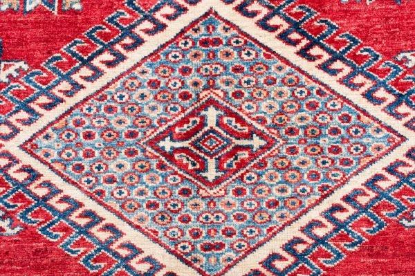 Tappeto Afgano Kazak Gold 189x204 cm Dettaglio DSC5762