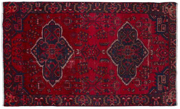 Tappeto Persiano Hamadan 207x125cm visione dall'alto