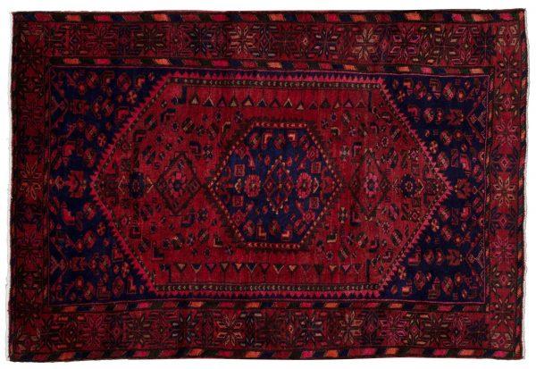 Tappeto Persiano Hamadan 216x143 cm visione dall'alto