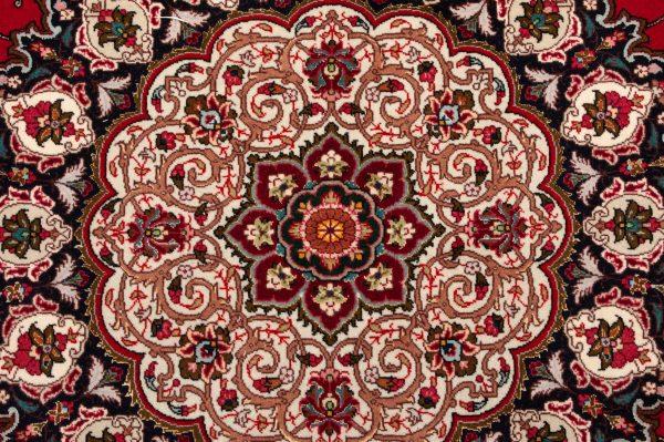 -Tappeto Persiano Tabriz 302x254cm dettaglio