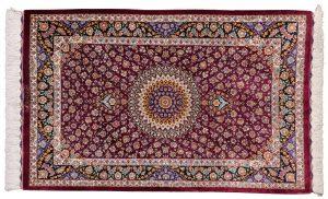 Tappeto-Persiano-Kum-Seta-125x77-cm-Alto