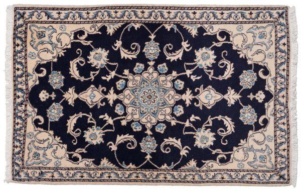 Tappeto Persiano Nain 144x90cm visione dall'alto