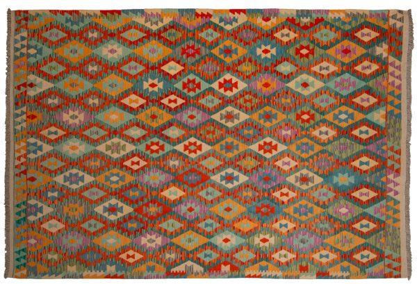 Tappeto Kilim Afgano 304x206cm visione frontale