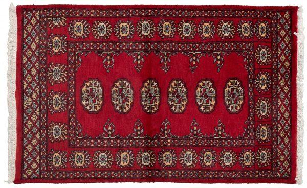 Tappeto Pakistan Bukara 124x76cm visione dall'alto