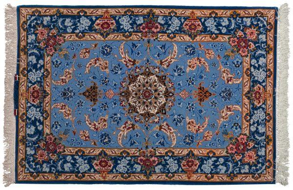 Tappeto Persiano Isfahan 122x83cm visione dall'alto
