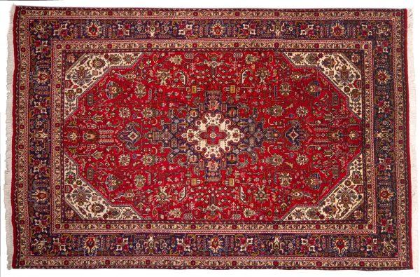 Tappeto Persiano Tabriz 300x199cm visione dall'alto