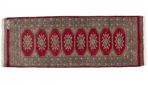 Tappeto Pakistano Passatoia Kashmir 175x63cm visione dall'alto