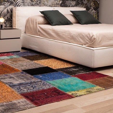 tappeto patchwork quadrato